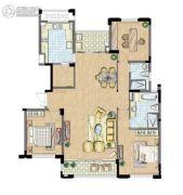 太湖锦园3室2厅2卫155平方米户型图