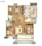 雅戈尔壹号4室2厅1卫139平方米户型图