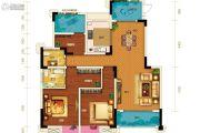两江春城3室2厅2卫102平方米户型图