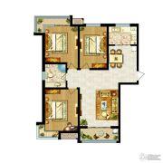卓达上河原著3室2厅1卫135平方米户型图
