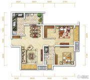 万科金润华府2室2厅1卫76平方米户型图