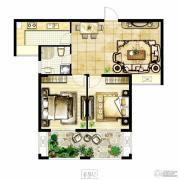 冠城大通棕榈湾3室2厅1卫111平方米户型图