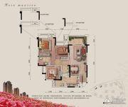 融汇半岛玫瑰公馆3室2厅2卫85平方米户型图