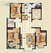 海山广场3室2厅1卫116平方米户型图