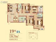 祝福红城4室2厅2卫0平方米户型图
