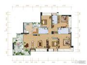 天英・月珑湾4室2厅3卫173平方米户型图