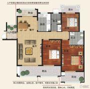 香江帝景3室2厅2卫139平方米户型图