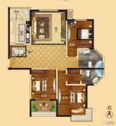 新龙御都国际3室2厅2卫150平方米户型图