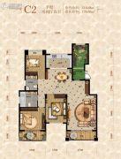 重庆桃源居国际花园3室2厅2卫118平方米户型图