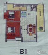 万豪华创新城2室2厅1卫107平方米户型图