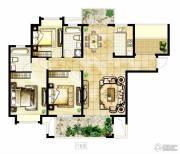 冠城大通棕榈湾3室2厅2卫136平方米户型图