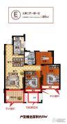 乐润状元名苑3室2厅1卫89平方米户型图