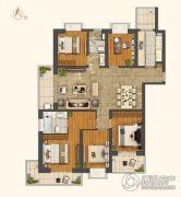 世茂外滩新城5室2厅2卫0平方米户型图