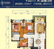乐昌碧桂园3室2厅2卫98平方米户型图