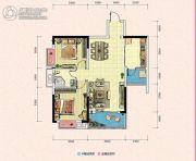 凯富南方鑫城2室2厅1卫81平方米户型图