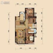 金地悦峰3室2厅2卫118平方米户型图