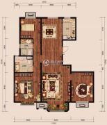 中冶世家3室2厅2卫132平方米户型图