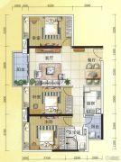 元邦明月水岸3室2厅1卫113平方米户型图