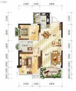 嘉福锦里2室2厅1卫75--92平方米户型图
