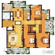 信达银郡3室2厅2卫186平方米户型图