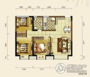 双发东城印象2室2厅1卫85平方米户型图