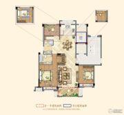 祥生悦山湖2室2厅2卫105平方米户型图