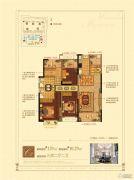 诸暨万达广场3室2厅2卫129平方米户型图