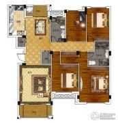 绿城百合新城4室2厅2卫160平方米户型图