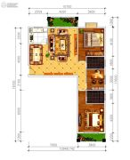 磁湖南郡3室2厅2卫133--135平方米户型图