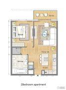 迪拜春天 DUBAI SPRING1室1厅1卫0平方米户型图