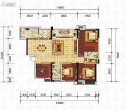 滨江国际4室2厅2卫110平方米户型图