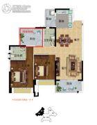 雅居乐英伦首府3室2厅2卫118平方米户型图