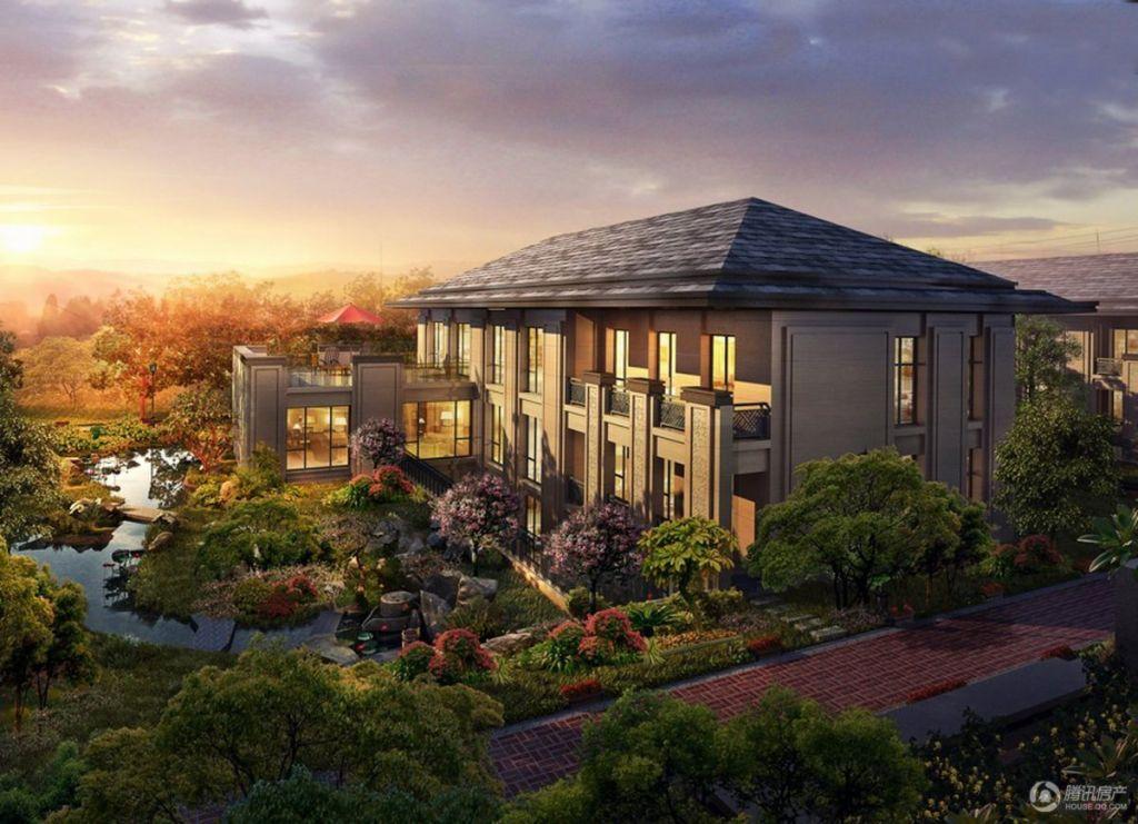 紫辰院项目筑造6万㎡私家园林,秉承古代名宅治园的基本模式,将水榭