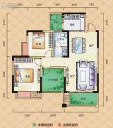 梅溪峰汇3室2厅1卫88平方米户型图