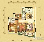 雅居乐十里花巷3室2厅2卫110平方米户型图