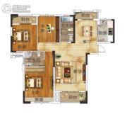 升华・翡翠一品2室2厅2卫135平方米户型图