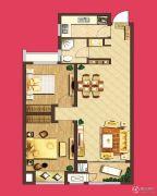 泰盈八千里2室2厅1卫83平方米户型图