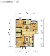 藁开・康德郡3室2厅1卫128平方米户型图