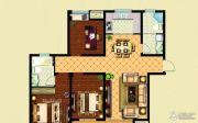 华泽天下 高层3室2厅2卫123平方米户型图