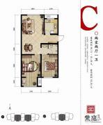 燕都紫庭2室2厅1卫90--91平方米户型图