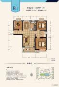 建投・御湖园3室2厅1卫97平方米户型图